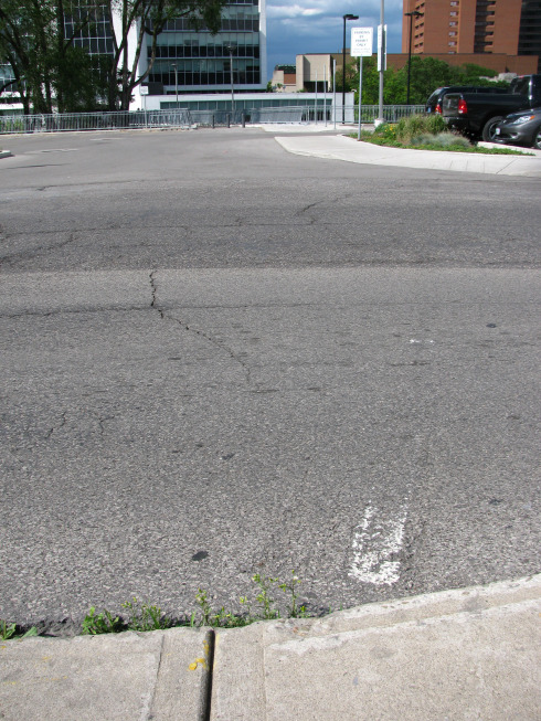 'Ghost crosswalk' on Hunter Street at Park Street, right behind City Hall (RTH file photo)