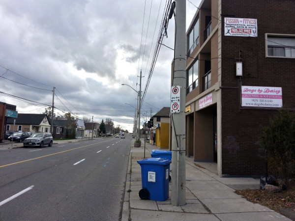 No curbside parking on west side of Wellington