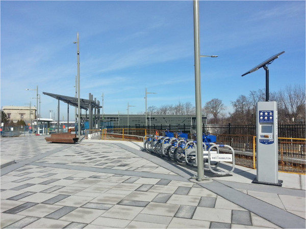 Bike share station at West Harbour GO Station (RTH file photo)
