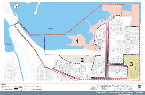 Hamilton West Harbour Planning Area Study Map (click on the image to view original PDF)