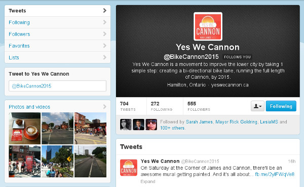 Yes We Cannon Twitter page