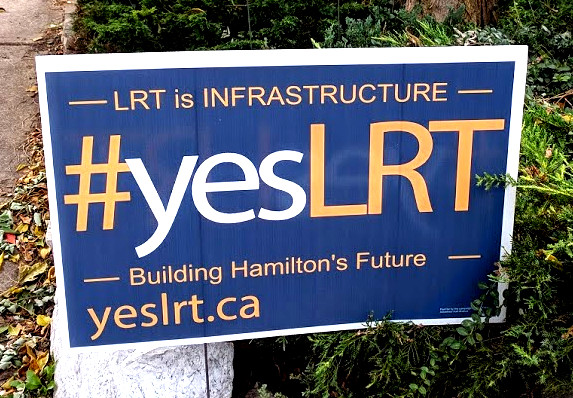 Yes LRT lawn sign