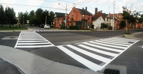 Zebra crossing at Cannon and Elgin (Image Credit: @fortelgin)