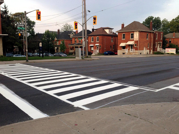 Zebra crossing at King and Strathcona